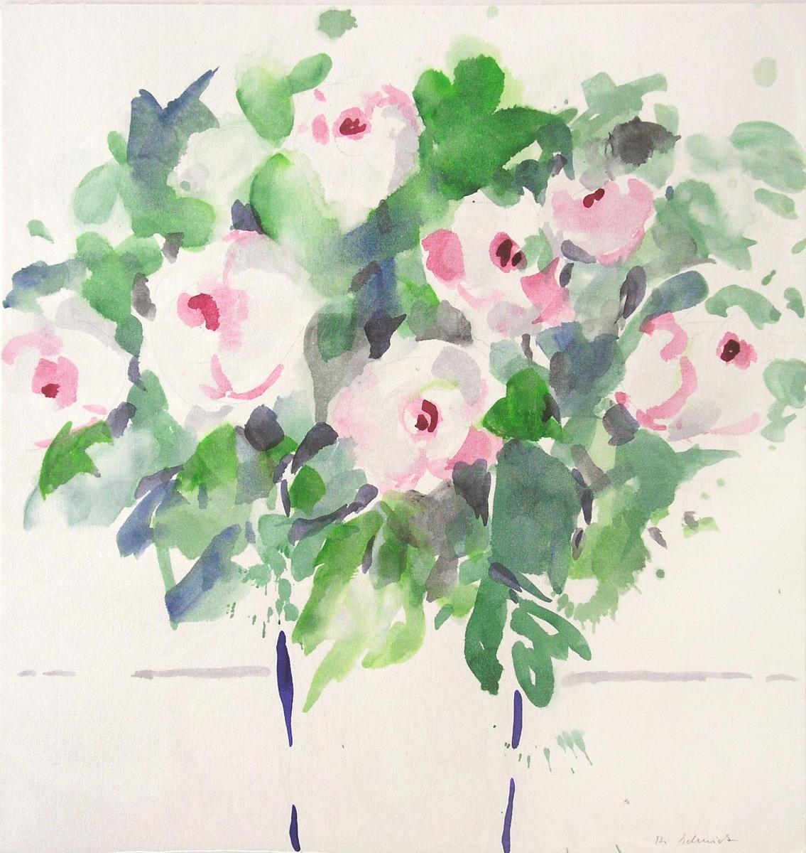 ingrid schmidt rosen aquarell 3 x 31 cm preis. Black Bedroom Furniture Sets. Home Design Ideas
