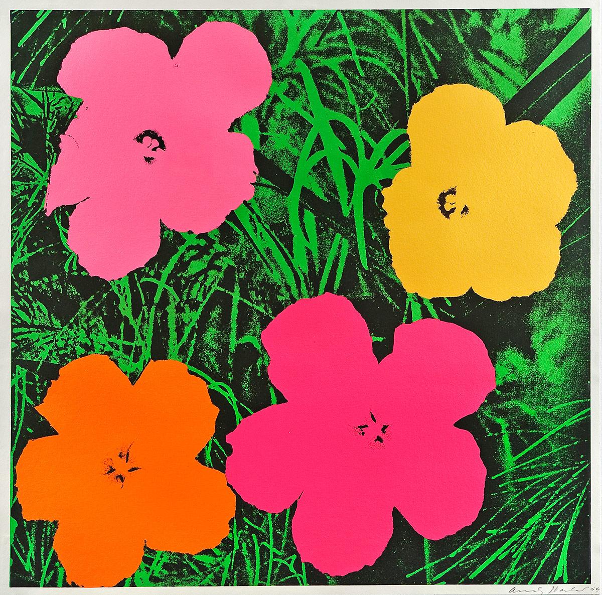 Flower Paintings Pop Art