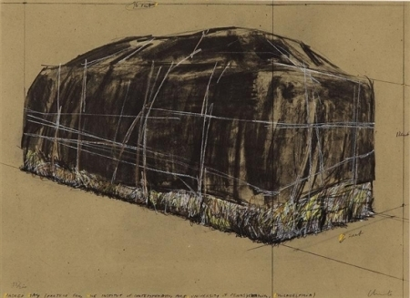 NEU EINGETROFFEN | CHRISTO | PACKED HAY (Projekt in Philadelphia) | Original Serigraphie, handsigniert | 1973
